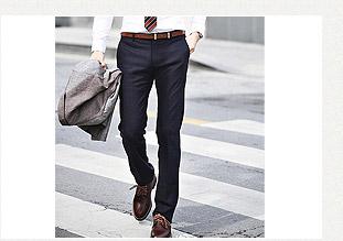 韓國進口成套西裝褲-黑色