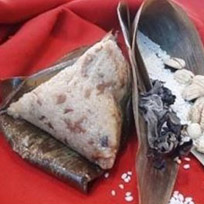 『南門市場林記素食』板栗粽