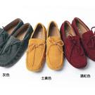 時尚素面方頭麂皮休閒帆船鞋