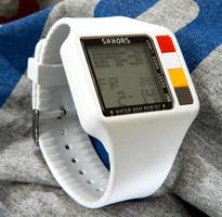復古時尚運動電子設計錶