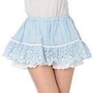 【LIZLISA】花朵縷空層次內裏褲裙