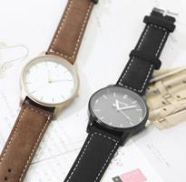 韓國輕巧簡約霧面麂皮手錶