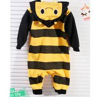 連帽小蜜蜂造型連身衣