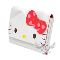 Hello Kitty臉型點點蝴蝶結卡片夾