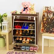 簡約日式捲簾式布套鞋櫃