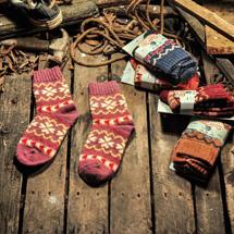 秋冬復古羊毛襪