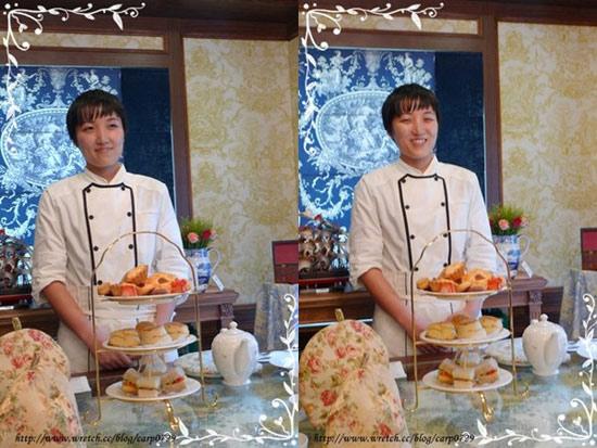 可愛的主廚手井梨惠為大家介紹每個點心的內容。