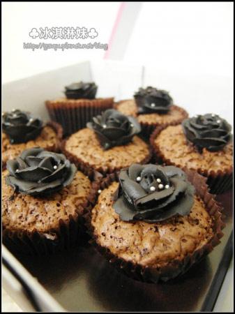 誘黑玫瑰cup蛋糕~你終於來啦~