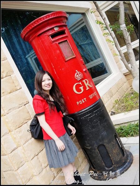 這郵筒是1910年的產物 而且是特地從英國運回來的呢!