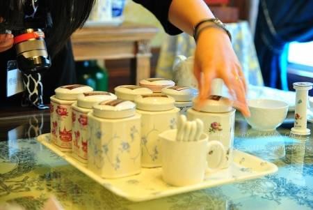準備試飲沖泡的茶葉,共有八種
