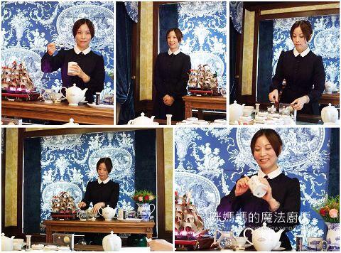 紅茶達人Kelly老師向在座的部落客和同行的友人介紹正統英式紅茶的泡法, 並讓部落客實際操作。