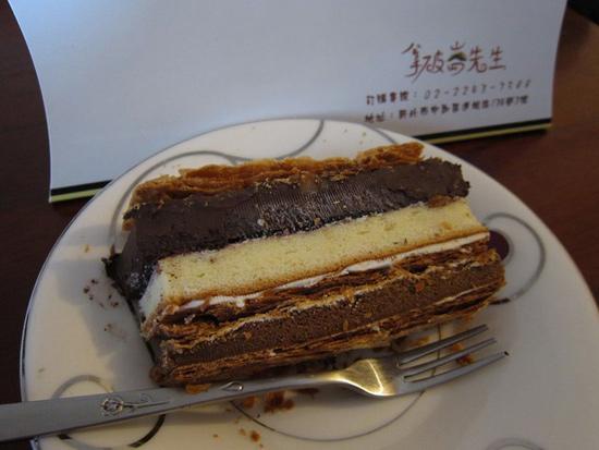 部落客,拿破崙,蛋糕,純濃甘納許