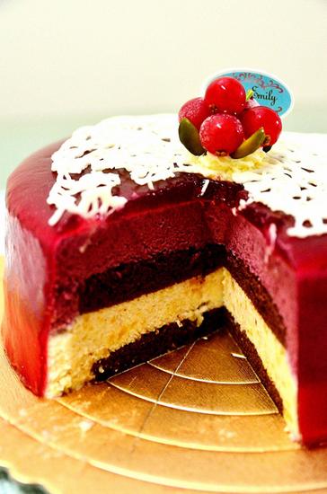 部落客,法式甜品,甜心凱莉蛋糕,黑醋栗果醬,巧克力蛋糕,香草蜜桃蛋糕