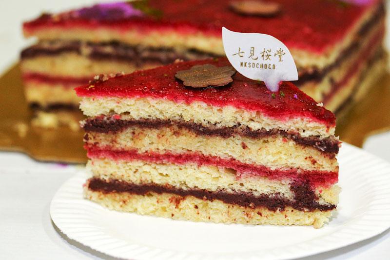 【七見櫻堂】八重京緋黑醋栗蔓越莓蛋糕