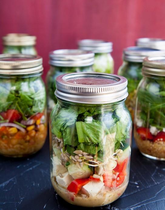 玻璃罐沙拉