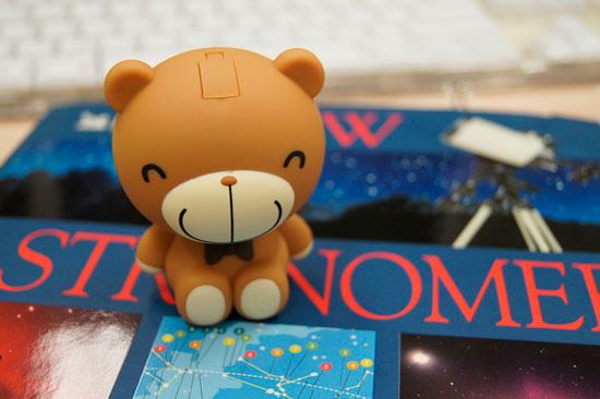設計成坐姿的巧克力熊