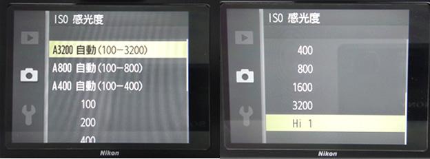 ISO感光度方面從100到3200,並且可手動調高到Hi 1(相當於ISO 6400)