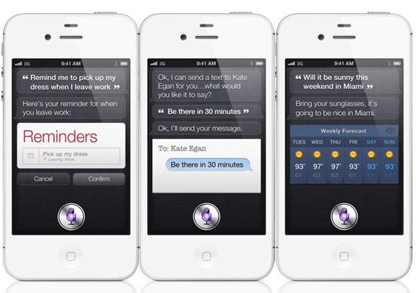 Siri可以安排行程、打電話、寄簡訊、查股市、天氣,還可以回答各種疑難雜症