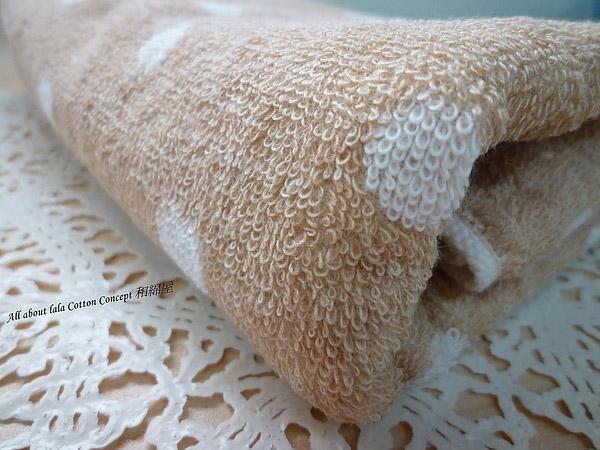 圓點點系列 日本有機棉長毛巾