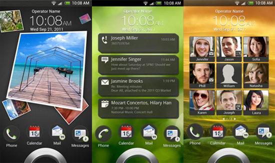 HTC Sense 4.0 在螢幕上鎖時,可以顯示各種程式訊息,約會提醒甚至是相簿及聯絡人資料。