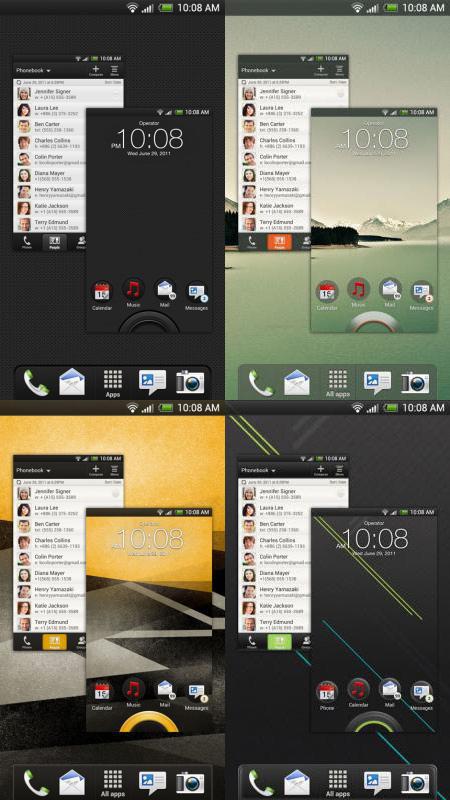 HTC Sense 4.0 內建的佈景主題。