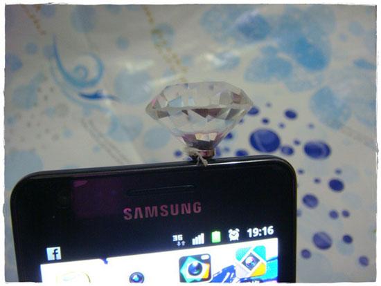 部落客,耳機防塵塞,大鑽石,手機孔