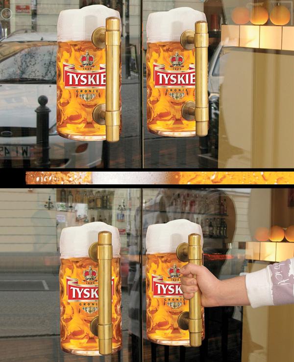 創意廣告,創意行銷,啤酒廣告,創意宣傳,戶外廣告,