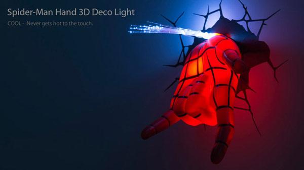 壁燈 蜘蛛人 吐絲手 3D Light FX 復仇者聯盟 LED 聖誕節 禮物