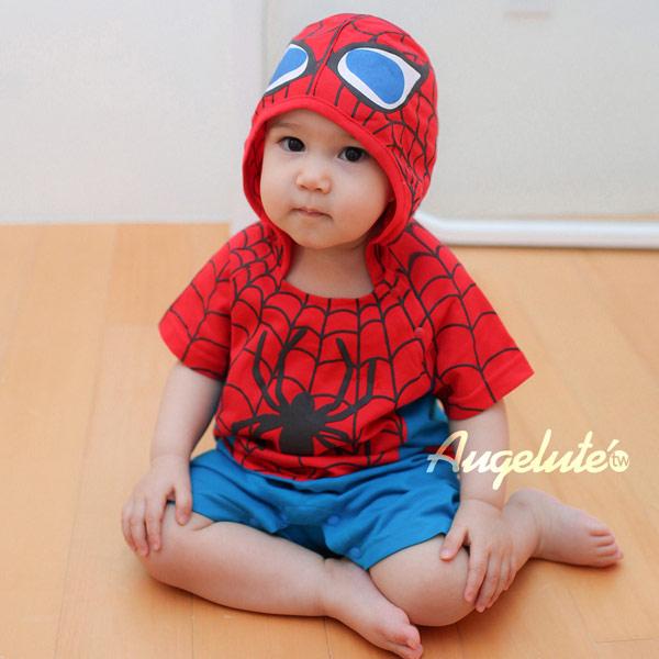 2014年蜘蛛人驚奇再起 短袖連體衣 寶寶爬服哈衣