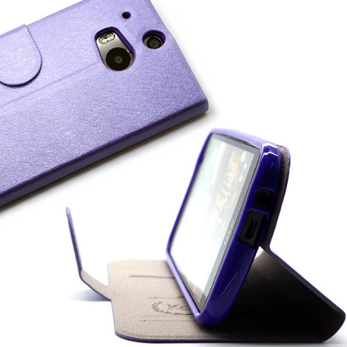 ▲KooPin HTC One (M8) 璀璨星光系列 立架式側掀皮套