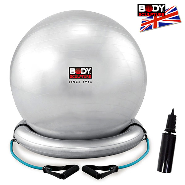 ▲【BODY SCULPTURE】拉繩26吋韻律球(贈送打氣筒)瑜珈球抗力球彈力球
