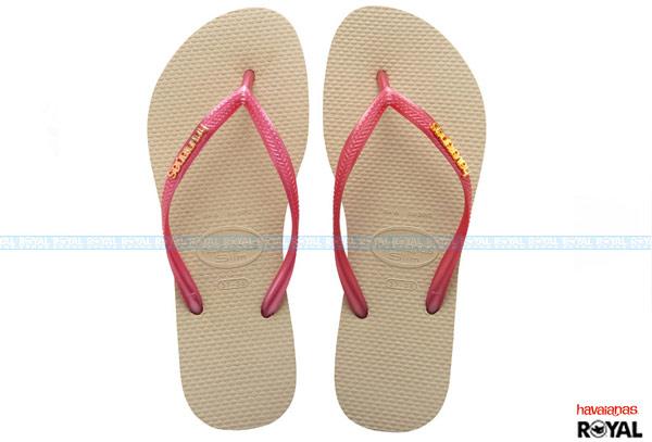 ▲巴西 havaianas 黃/粉色 人字拖鞋 女款
