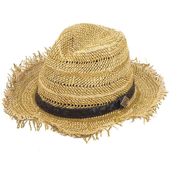 ▲【LANDBAS】皮編飾帶草帽