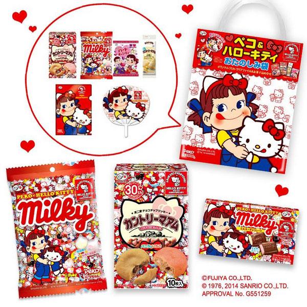 Hello Kitty和日本不二家「牛奶妹」Peko聯名合作,40年來Kitty首度張嘴舔