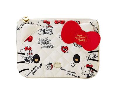 Hello Kitty 40週年限定化妝包/筆袋