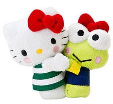 Hello Kitty 40週年限定大眼蛙玩偶
