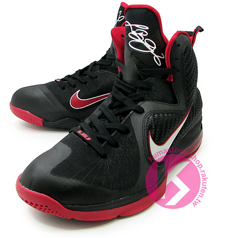 NIKE LEBRON IX 9-LeBron James熱火隊NBA主場黑紅配色