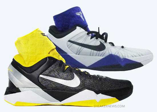 Nike Zoom Kobe VII (7) 率先曝光兩款配色,並加強了護踝設計。