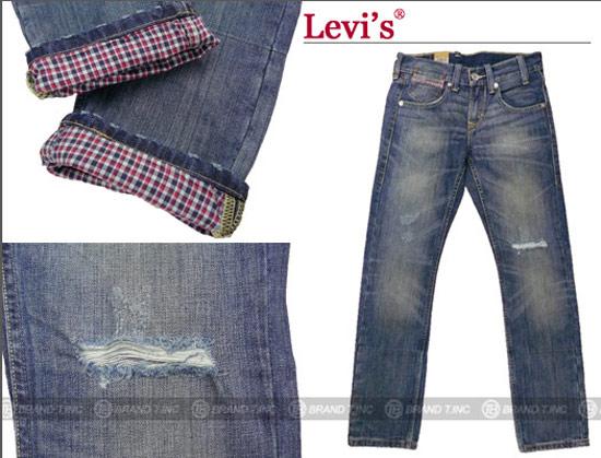 LEVI'S X CLOT X PYTHON 金線蟒蛇皮標505原色牛仔褲