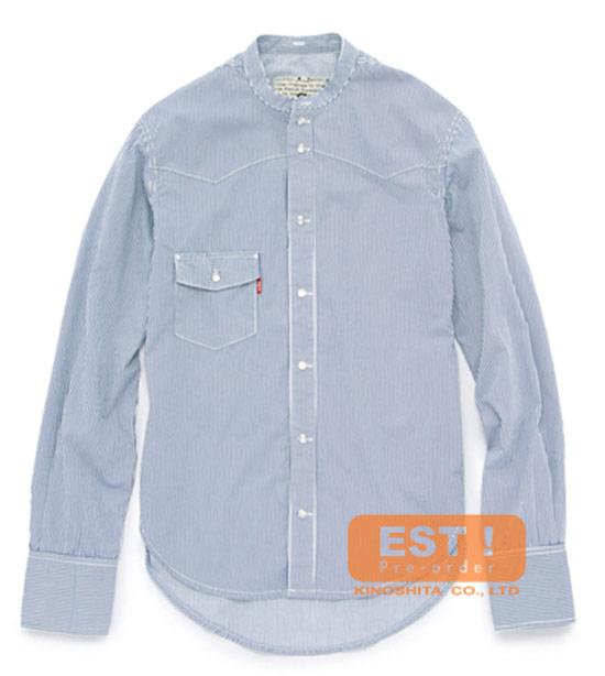 Levis 條紋立領襯衫