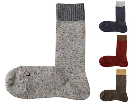 羊毛棉結左右直角襪