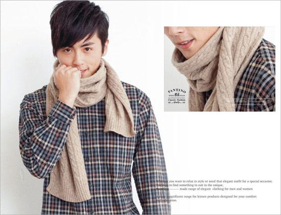 義大利原裝進口厚暖羊毛圍巾