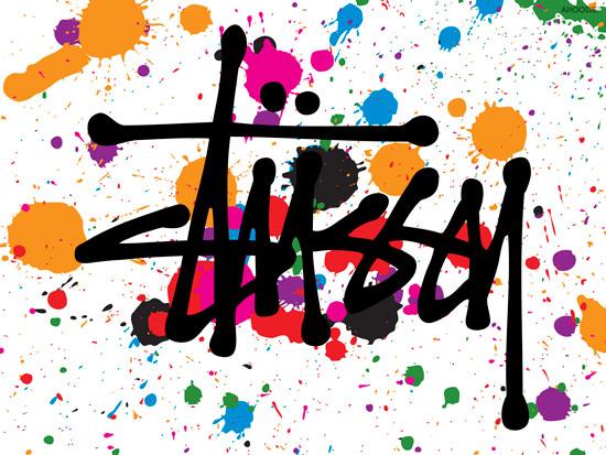 STUSSY擅長以美式塗鴉風格結合趣味的圖像塑造不同一般品牌的強烈設計感