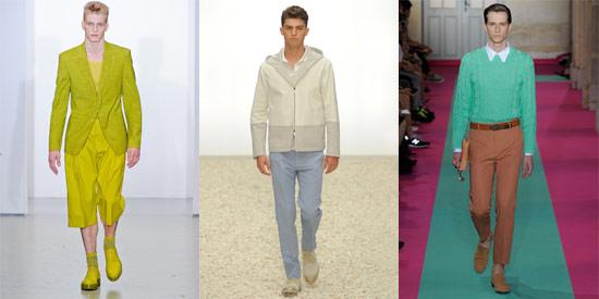儘管春夏是亮色系的季節,但本季流行的柔和色讓男性時裝更多了層次感。