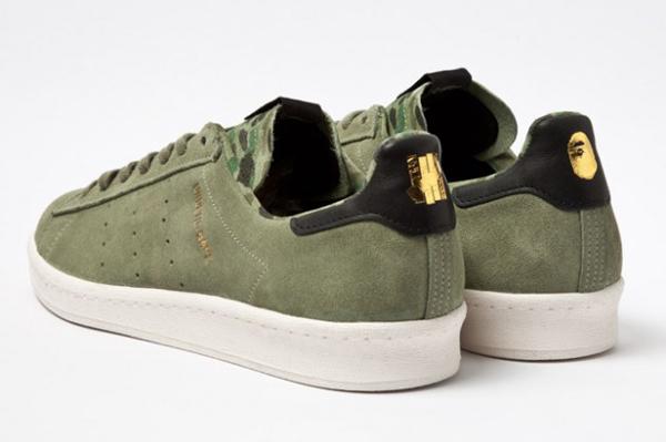 Bape x Undefeated x adidas Originals Consortium Campus 鞋跟有聯名LOGO
