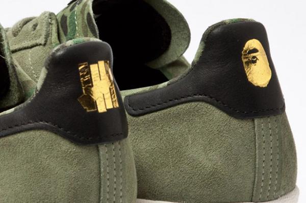 Bape x Undefeated x adidas Originals Consortium Campus 燙金LOGO