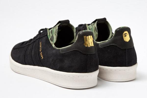 Bape x Undefeated x adidas Originals Consortium Campus 黑色搭配迷彩