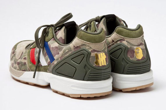Bape x Undefeated x adidas Originals Consortium ZX5000 鞋跟