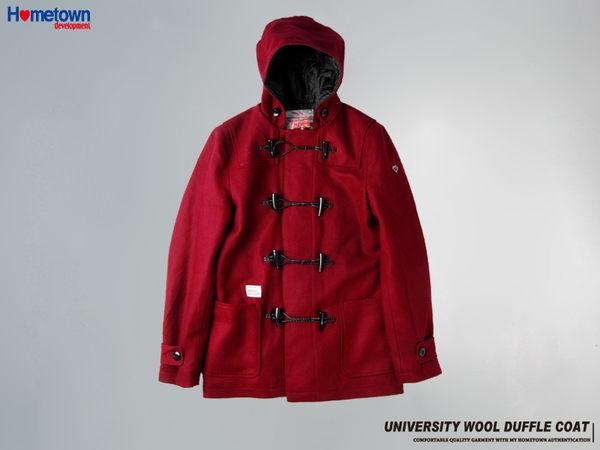 防風大衣,防寒外套,秋冬外套,牛角扣外套,HOME TOWN,羊毛