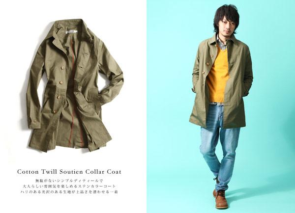 ZIP長版風衣,日本ZIP,日系風格,日本素人街拍,日本素人,橄欖色風衣